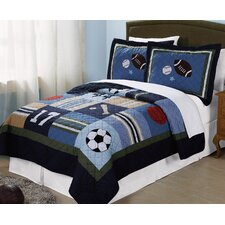 All State Quilt Set in Blue