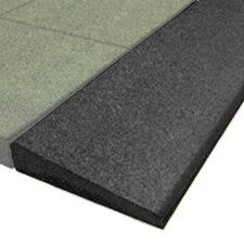 "PlayFall 2.50"" x 40"" Playground Safety Surfacing Bevel Edge Border in Black"