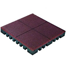 "PlayFall 1.75"" x 24"" Playground Safety Surfacing Terra Cotta Rubber Tile"