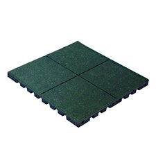 "PlayFall 1.75"" x 24"" Playground Safety Surfacing Rubber Tile in Green"