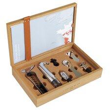 6-tlg. Korkenzieher-Set Oeno Box