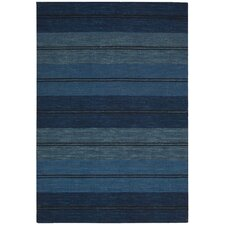 Oxford Blue Mediterranean Stripe Area Rug