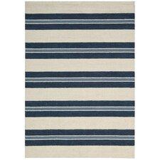 Oxford Navy/Ivory Awning Stripe Area Rug
