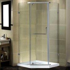 "Semi-Frameless 36"" x 36"" x 77.5"" Neo-Angle Pivot Shower Enclosure"