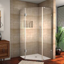 Neoscape Completely Frameless Neo-Angle Hinged Shower Enclosure