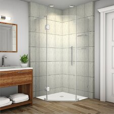 Neoscape GS Completely Frameless Neo-Angle Shower Enclosure with Shelves