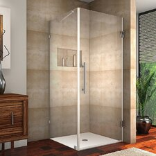 Aquadica Completely  Frameless Hinged Square Shower Enclosure