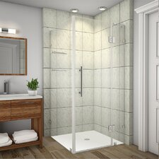 Avalux GS Completely Frameless Hinged Shower Enclosure with Shelves
