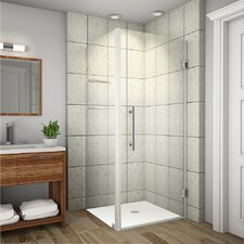 Aquadica GS Completely Frameless Hinged Square Shower Enclosure with Shelves