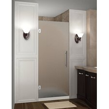 """Cascadia 72"""" x 26"""" Completely Frameless Single Panel Hinged Shower Door, Frosted Glass"""