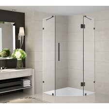"""Neoscape 38"""" x 38"""" x 72"""" Completely Frameless Neo-Angle Hinged Shower Enclosure"""