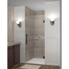 """Cascadia 72"""" x 23"""" Completely Frameless Single Panel Hinged Shower Door"""