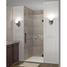 """Cascadia 72"""" x 29"""" Completely Frameless Single Panel Hinged Shower Door"""