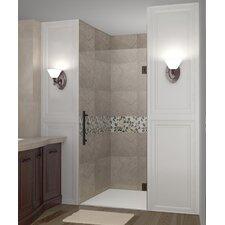 """Cascadia 72"""" x 34"""" Completely Frameless Single Panel Hinged Shower Door"""