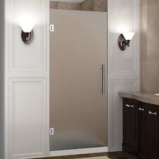 """Cascadia 72"""" x 34"""" Completely Frameless Single Panel Hinged Shower Door, Frosted Glass"""