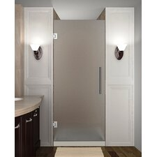 """Cascadia 72"""" x 24"""" Completely Frameless Single Panel Hinged Shower Door, Frosted Glass"""