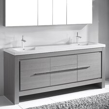 "Vicenza 72"" Single Bathroom Vanity Set"