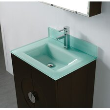 Tempered Glass Countertop Bathroom Sink