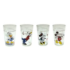 Disney 8 Piece 8 oz. Mickey and Friends Juice Glass Set (Set of 8)