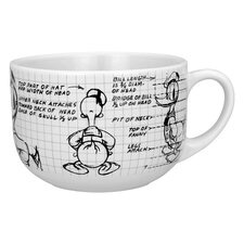 Disney Donald Sketchbook Soup Mug (Set of 4)