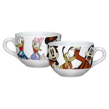 Disney Mickey and Friends Soup Mug Set