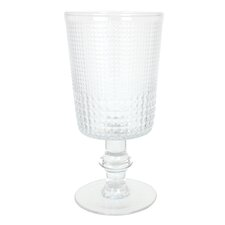 Hashtag 16 Oz. Pressed Glass Goblet (Set of 8)