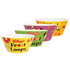 Kellogg's Froot Loops 4 Piece Bowl Set