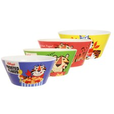 Kellogg's Tony the Tiger 4 Piece Bowl Set