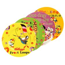 "Kellogg's Froot Loops 8"" Toast Plate 4 Piece Set"
