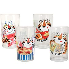 Kellogg's Tony the Tiger 4 Piece Juice Glass Set