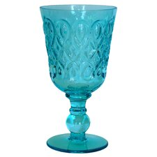 Teardrop Pressed Glass Goblet (Set of 8)