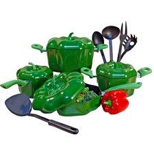 Bell Pepper Aluminum 13 Piece Cookware Set