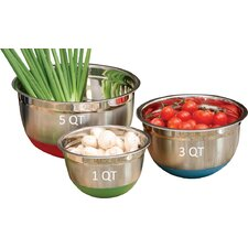 3 Piece Stainless Steel Mixing Bowl Set