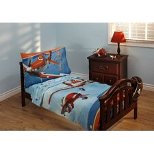 Own The Skies 4 Piece Planes Toddler Bedding Set
