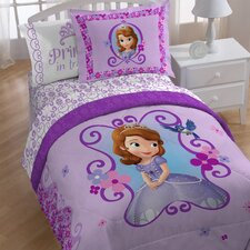 Sofia 1st Floral Scroll Twin Comforter