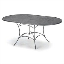 Mesh Top Set-Up Oval Dining Table