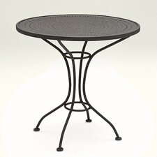 """Parisienne 30"""" Round Bistro Table with Pattern Metal Top"""