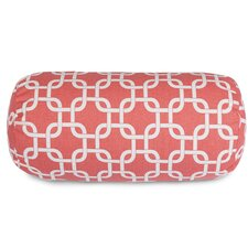 Coral Links Round Bolster Pillow
