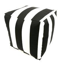 Striped Pouf Ottoman