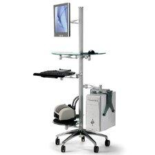 Ergonomic Mobile Workstation Stand AV Cart
