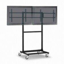 Ergonomic Mobile Dual TV Cart