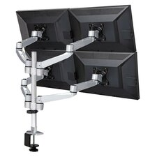 Heigh Adjustable 4 Screen Desk Mount