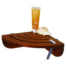"Spa Teak 10"" x 4.5"" Bathroom Shelf"