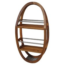 Teak and Stainless Steel Shower Organizer