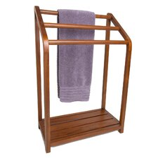 Spa Teak Freestanding Towel Stand