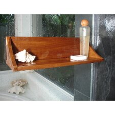 "Spa Teak 16"" x 4.5"" Bathroom Shelf"