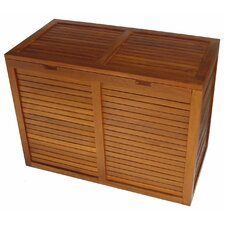 Spa Teak 2 Section Hamper
