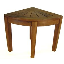 Spa Teak Corner Shower Stool