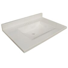 "31"" Wave Bowl Premium Granite Vanity Top"