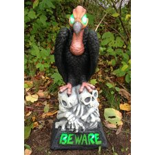 Beware Vulture LED Light-Up Statue
